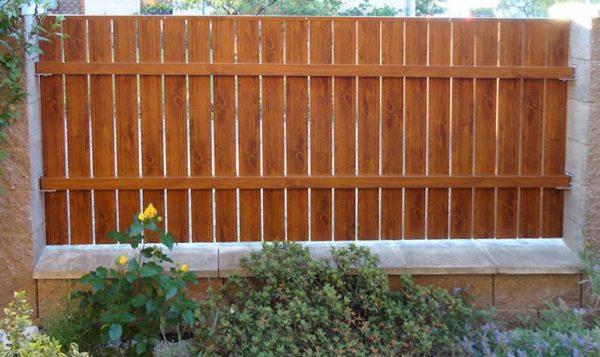 lišta, ploty bez natírání